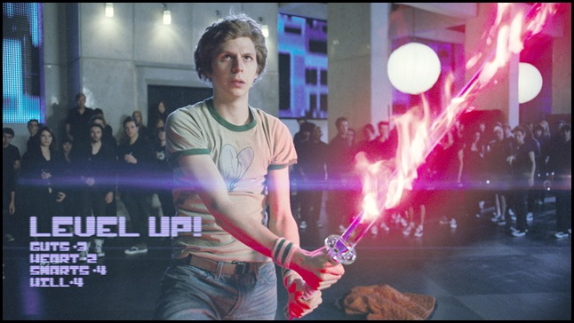 Scott Pilgrim (MICHAEL CERA) faces off with one of Ramona?s evil exes in the amazing story of one romantic slacker?s quest to power up with love: the action-comedy ?Scott Pilgrim vs. the World?.