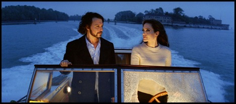 "Johnny Depp as ""Frank"" and Angelina Jolie as ""Elise"" in Columbia Pictures' thriller THE TOURIST."
