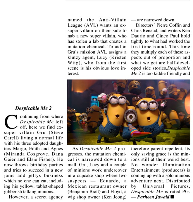 July 21 2013 (Despicable Me 2)