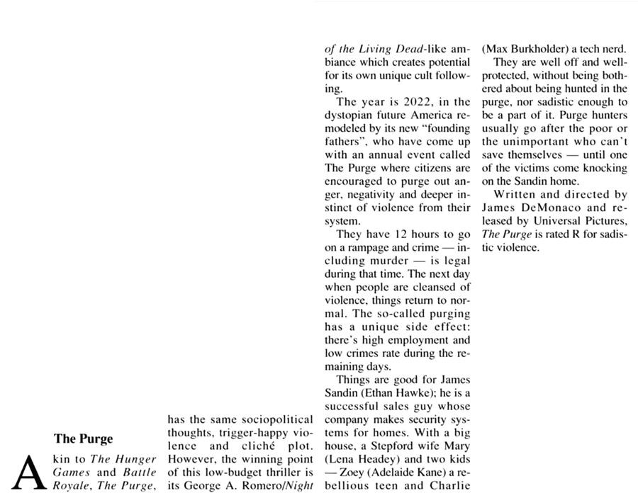 July 21 2013 (The Purge)