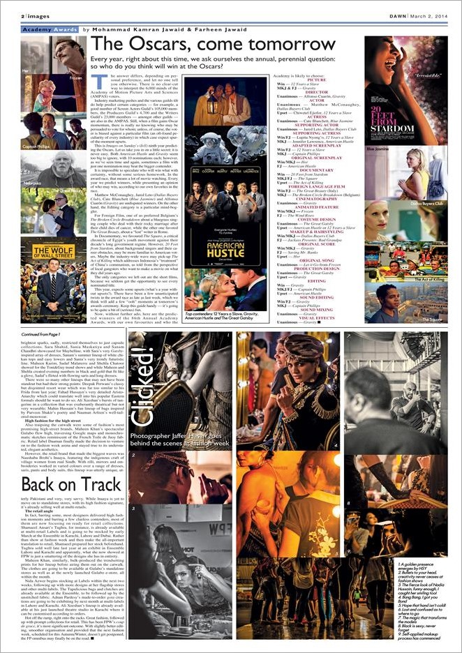 Feb 03 2014 - Oscar Predictions Full Page