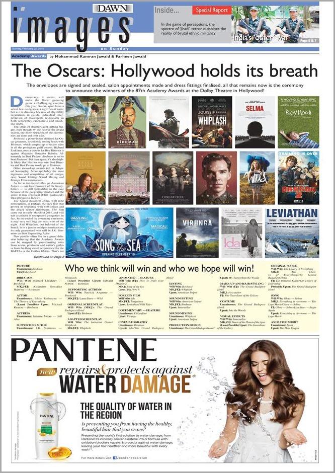 Oscar Awards - Images on Sunday